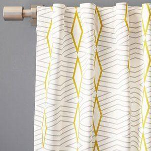 West Elm Cotton Canvas Diamond Stripe Curtains, 5